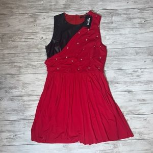Versus Versace Red / Black Dress Size 46 NWT